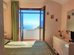 Balcony overlooking the Amalfi sea