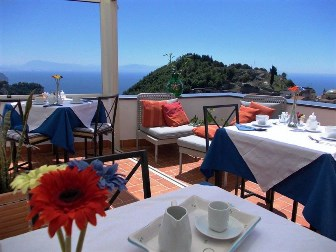 Our terrace offers a panoramic view which is perfect for enjoying our breakfast and our homemade products